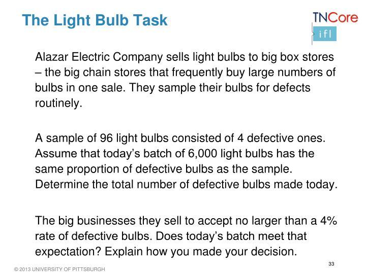 The Light Bulb Task