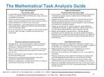 the mathematical task analysis guide