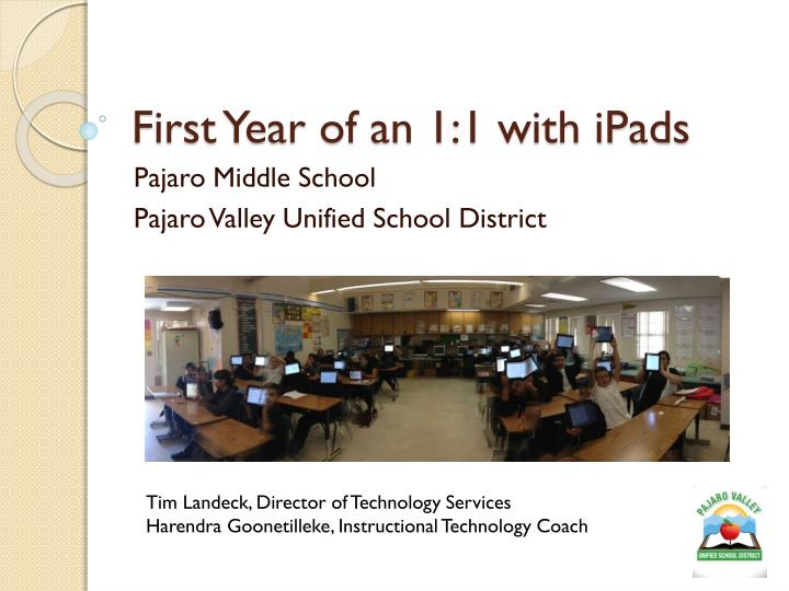 first year of an 1 1 with ipads
