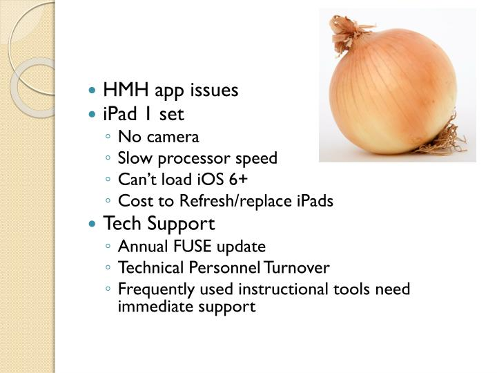 HMH app issues