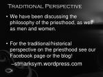 traditional perspective