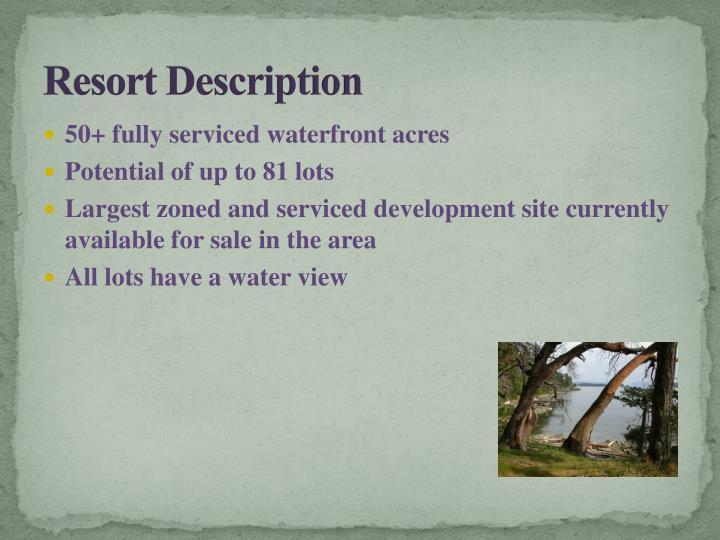 Resort Description