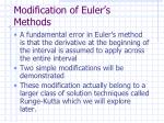 modification of euler s methods