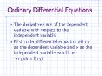 ordinary differential equations2
