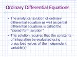 ordinary differential equations5