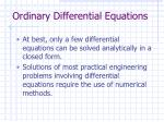 ordinary differential equations8