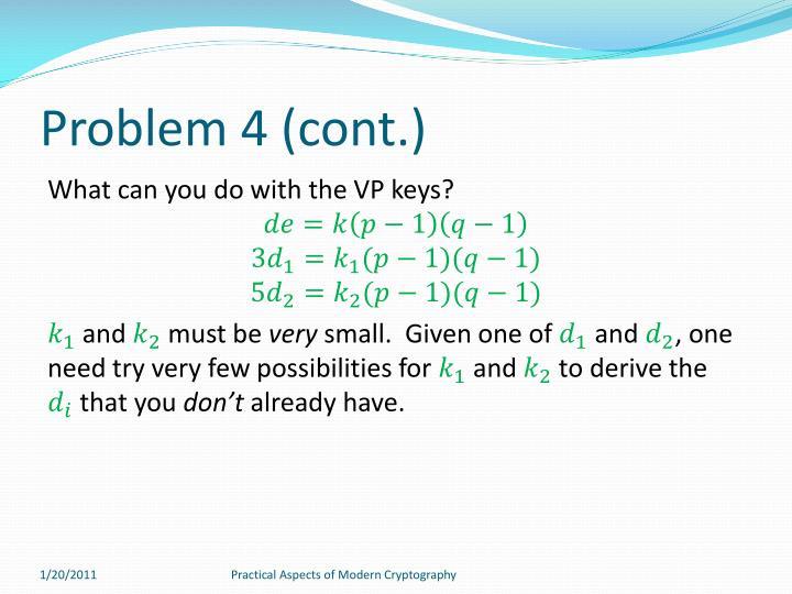 Problem 4 (cont.)