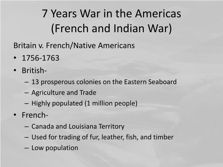 7 Years War in the Americas