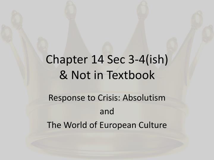 Chapter 14 Sec 3-4(
