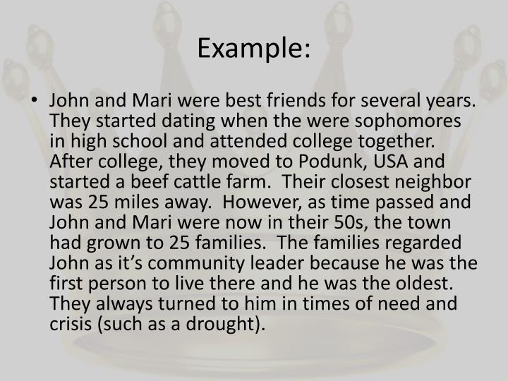 Example: