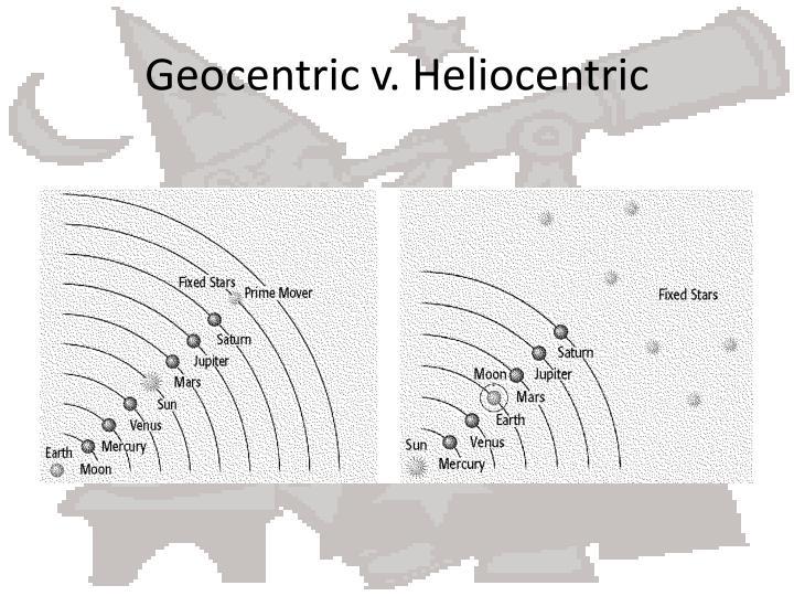Geocentric v. Heliocentric