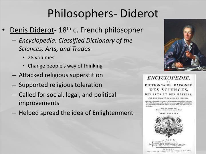 Philosophers- Diderot