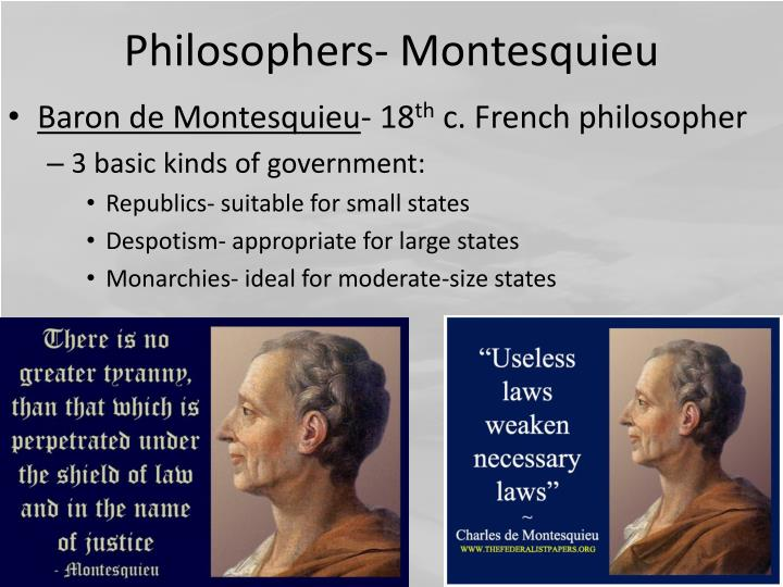 Philosophers- Montesquieu