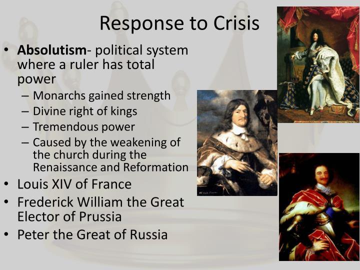 Response to Crisis