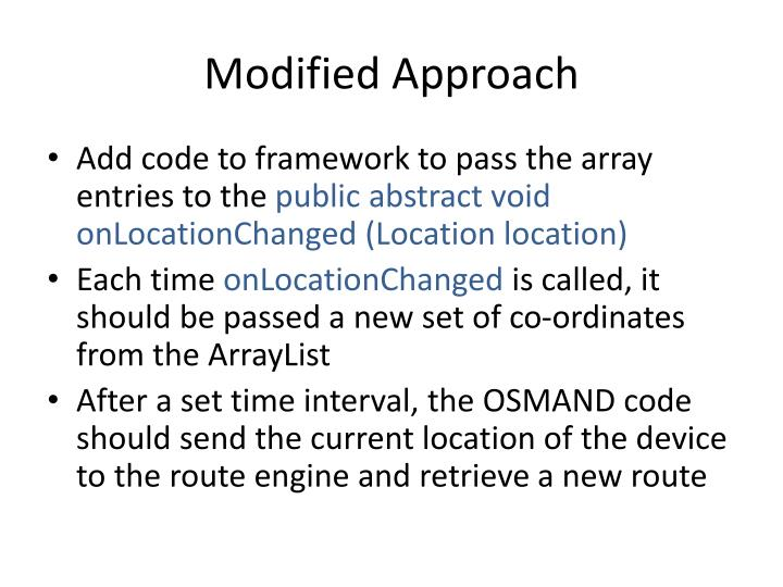 Modified Approach