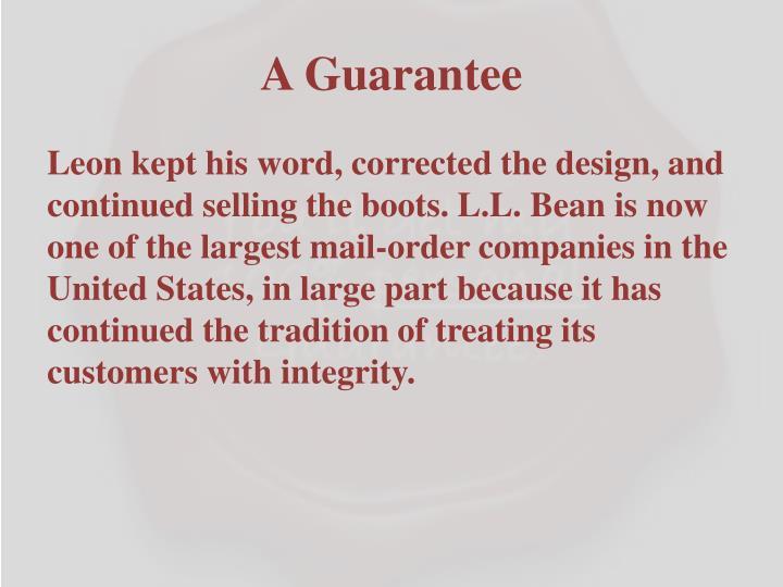 A Guarantee