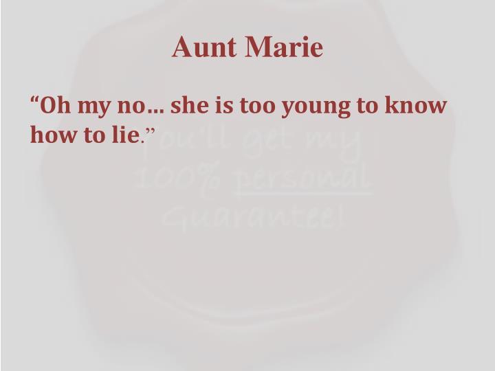 Aunt Marie