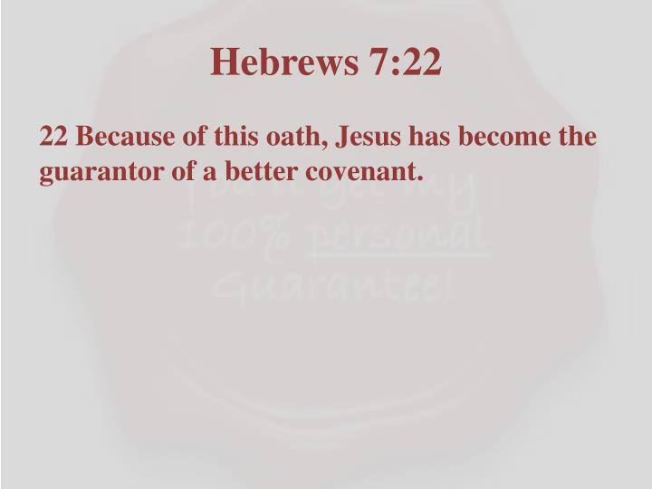 Hebrews 7:22