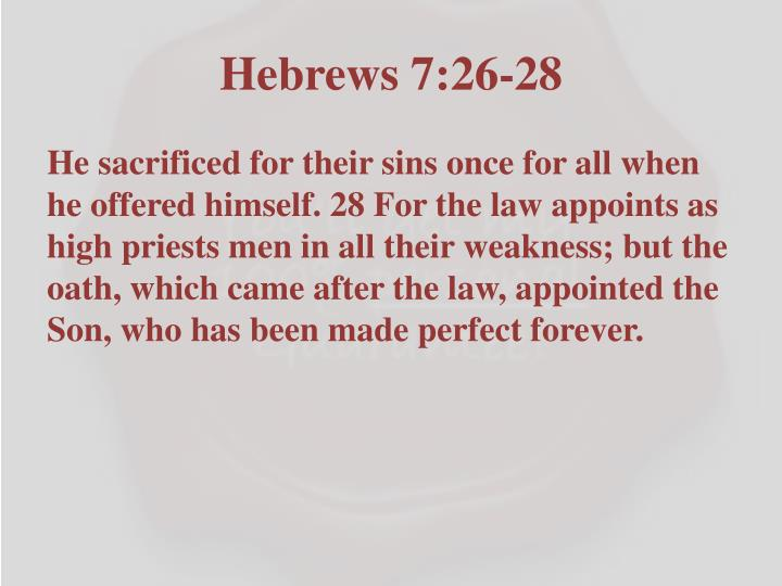 Hebrews 7:26-28