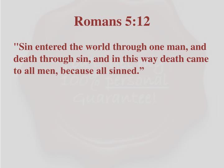 Romans 5:12