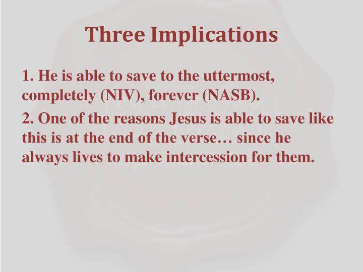Three Implications