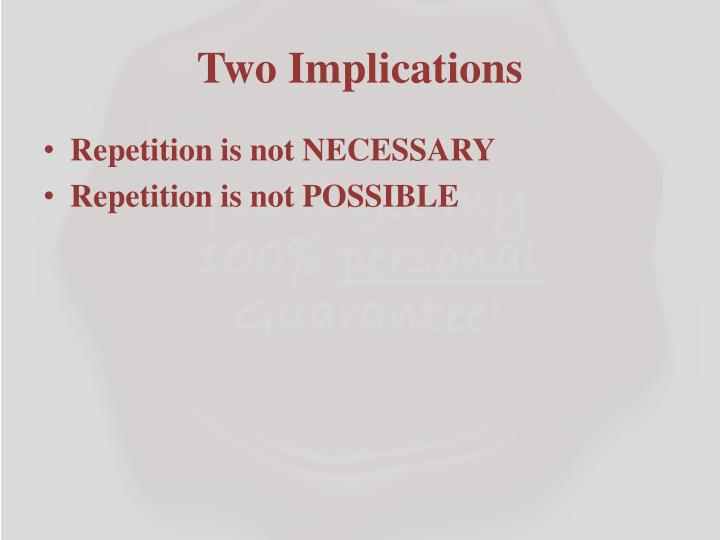 Two Implications