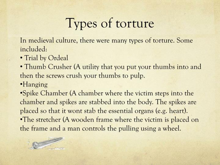 Types of torture