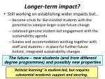 longer term impact