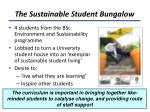 the sustainable student bungalow