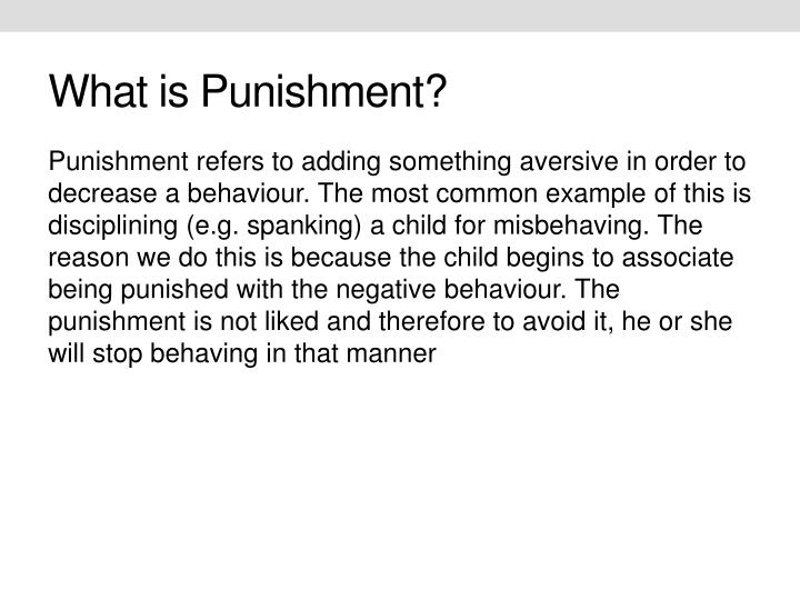What is Punishment?