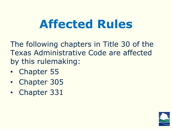 Affected Rules