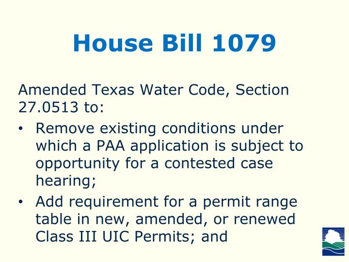 House Bill 1079