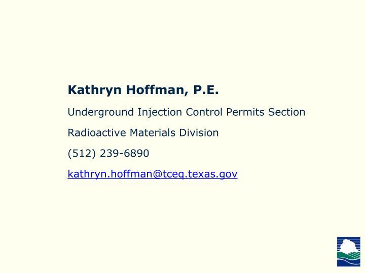 Kathryn Hoffman, P.E.