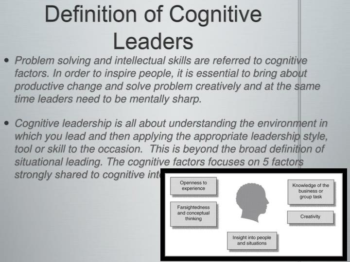 Definition of Cognitive Leaders