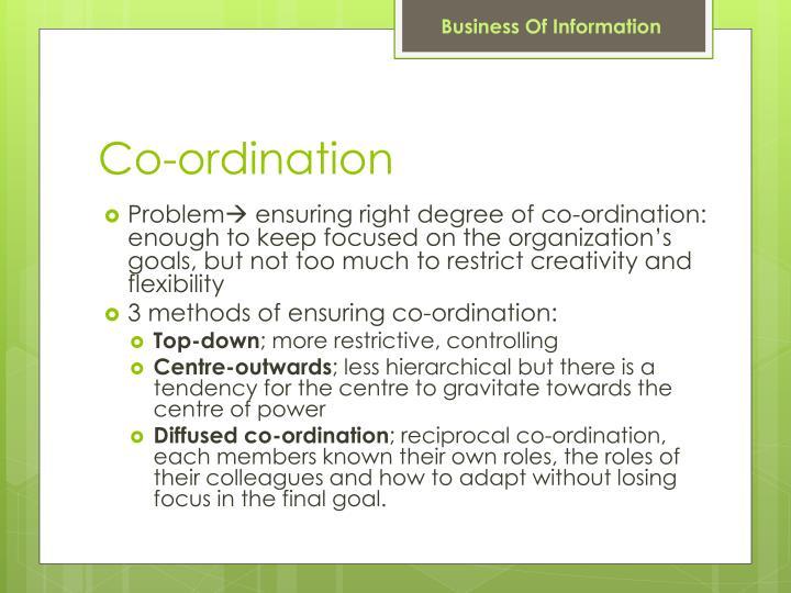 Co-ordination