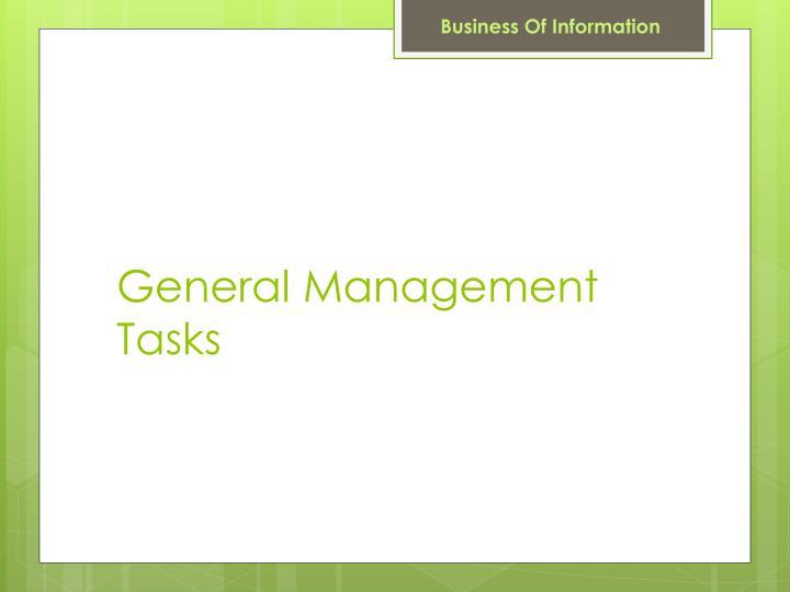 General Management Tasks