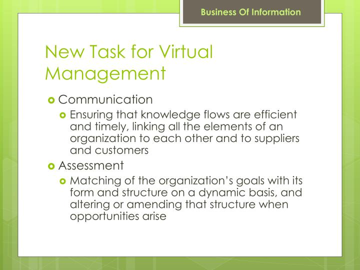 New Task for Virtual Management