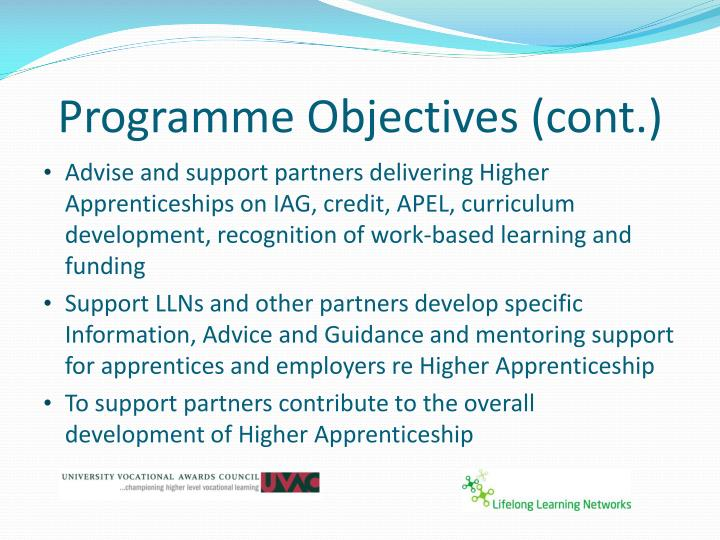 Programme Objectives (cont.)