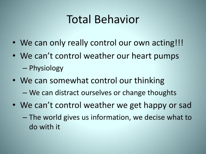 Total behavior
