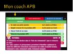 mon coach apb13