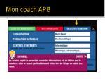 mon coach apb15