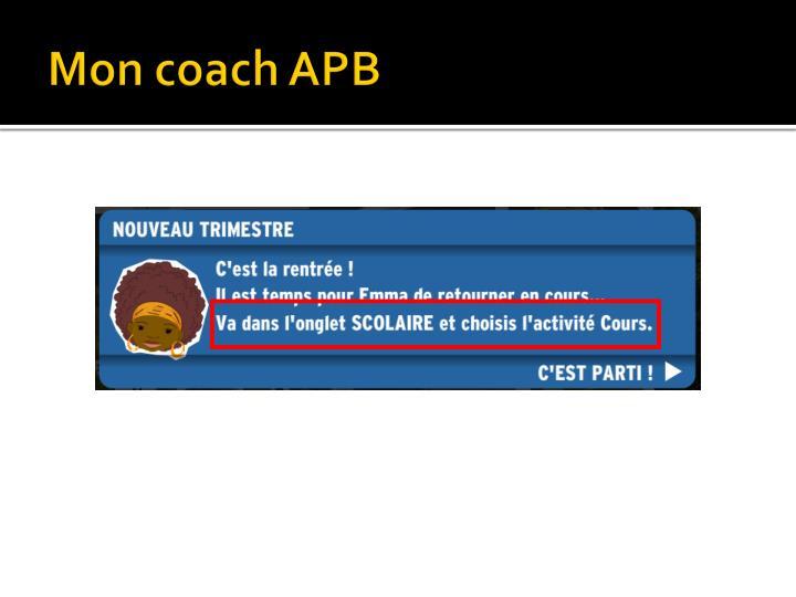 Mon coach