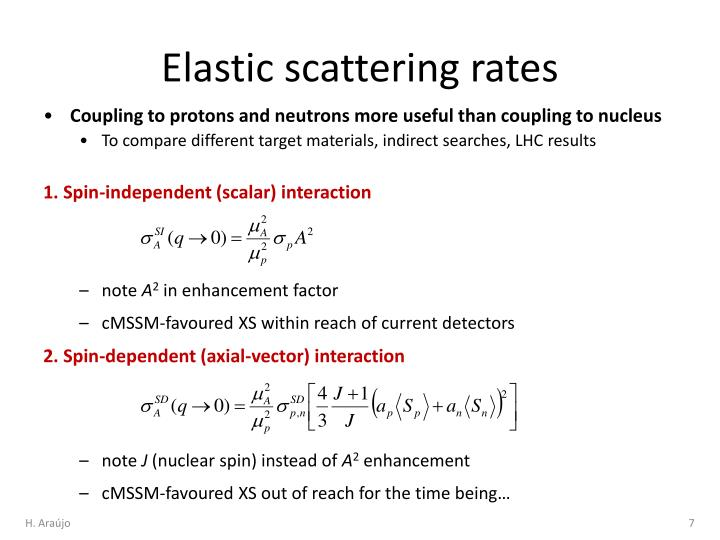 Elastic scattering rates