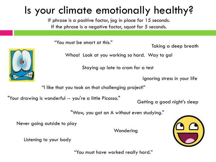 Is your climate emotionally healthy?