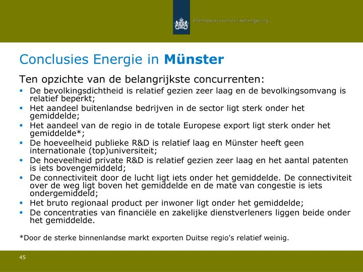 Conclusies Energie in
