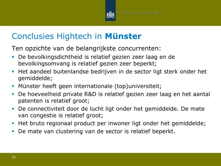 Conclusies Hightech in