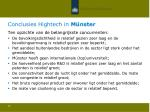 conclusies hightech in m nster