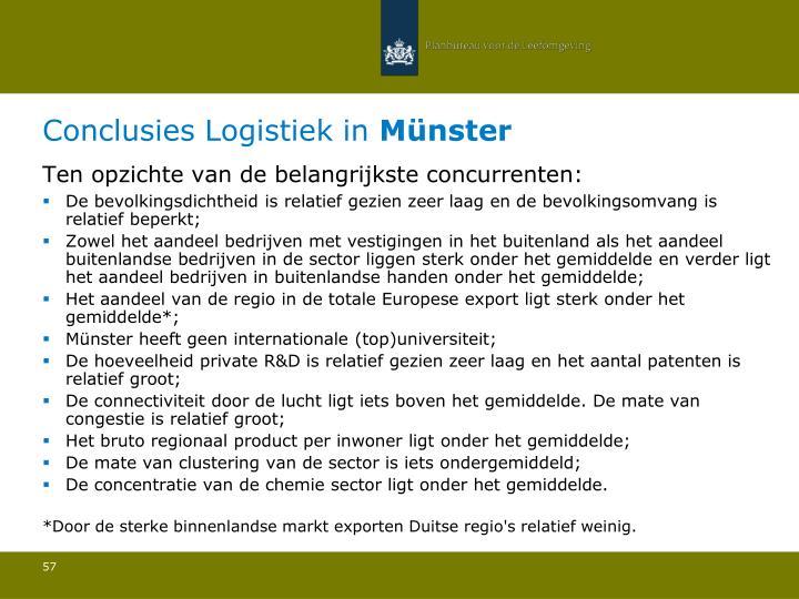Conclusies Logistiek in
