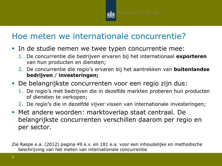 Hoe meten we internationale concurrentie?