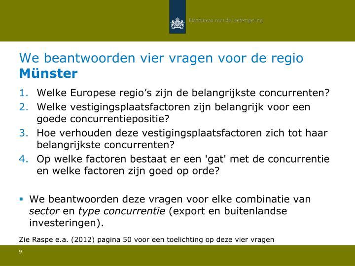 Welke Europese regio's zijn de belangrijkste concurrenten?